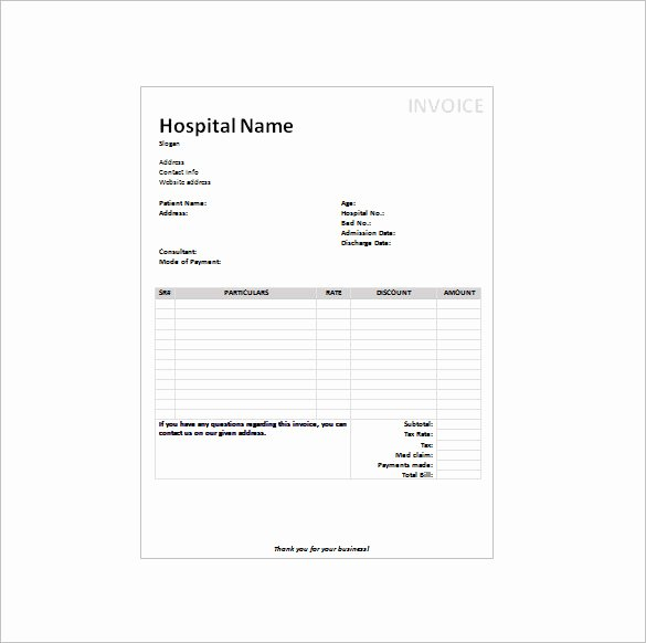 Medical Receipt Template Inspirational 17 Medical Receipt Templates Pdf Doc