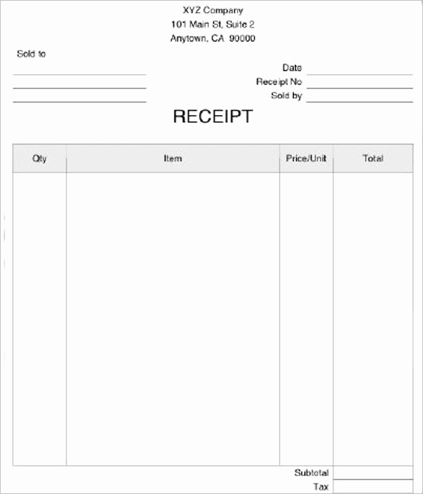 Medical Receipt Template Lovely Blank Medical Receipt Template