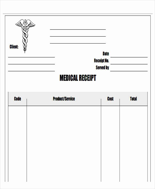 Medical Receipt Template Unique 43 Sample Receipt Templates