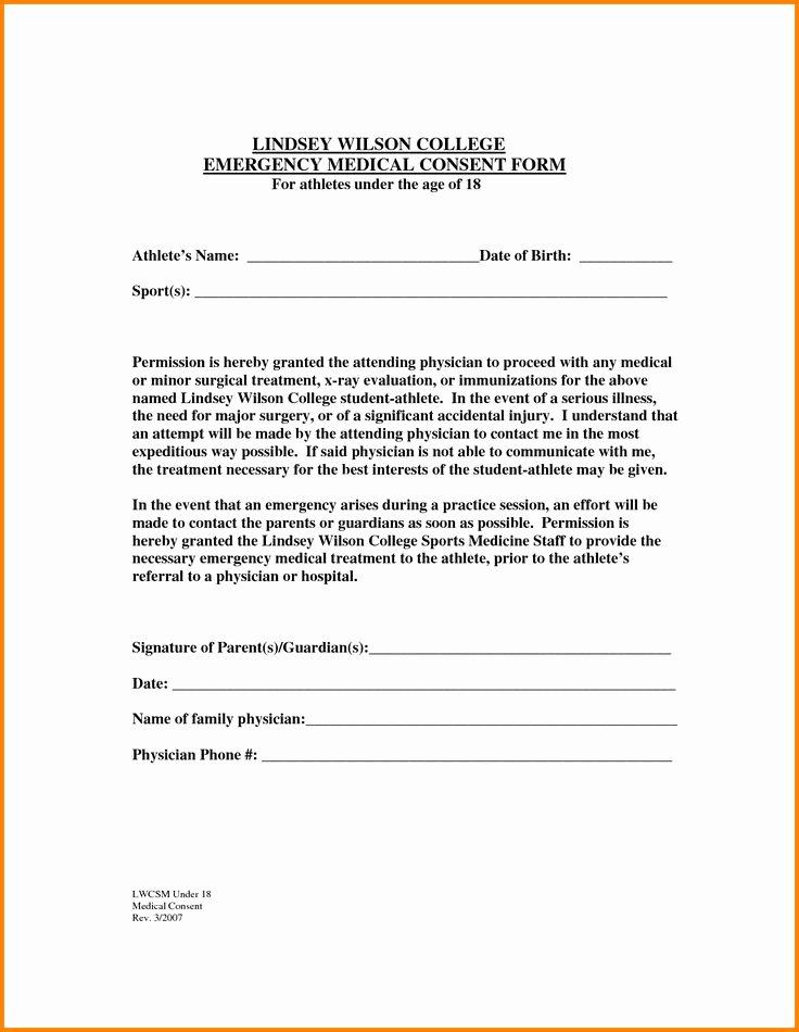 Medical Release form for Babysitter Elegant the 25 Best Medical Consent form Children Ideas On