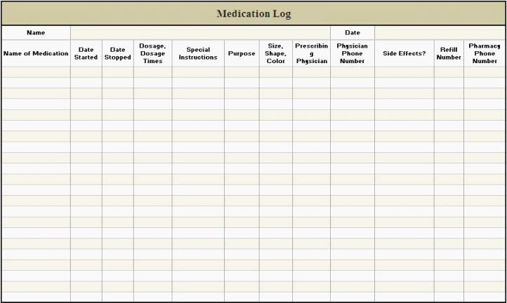 Medication Card Template Elegant 46 Magic Free Printable Medication Log