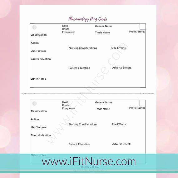 Medication Card Template Fresh Card Template Pdf Card Template Awesome