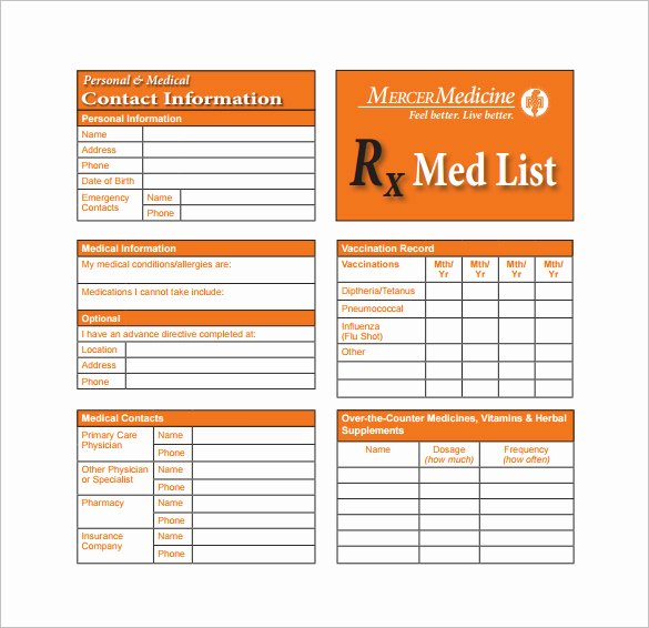Medication Card Template Unique 8 Medication Card Templates Doc Pdf