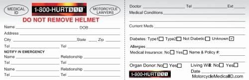 Medication Wallet Card Template New Medical Emergency Wallet Card