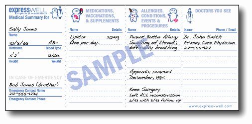 Medication Wallet Card Template New the Expresswell Wallet Card is Free