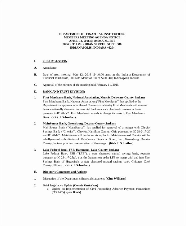 Meeting Brief Template Awesome 9 Project Meeting Agenda Templates Pdf Doc