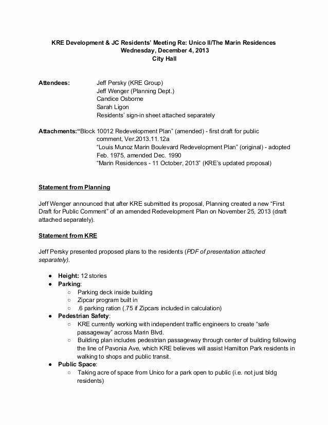 Meeting Brief Template Elegant Munity Meeting Minutes 12 6 2013