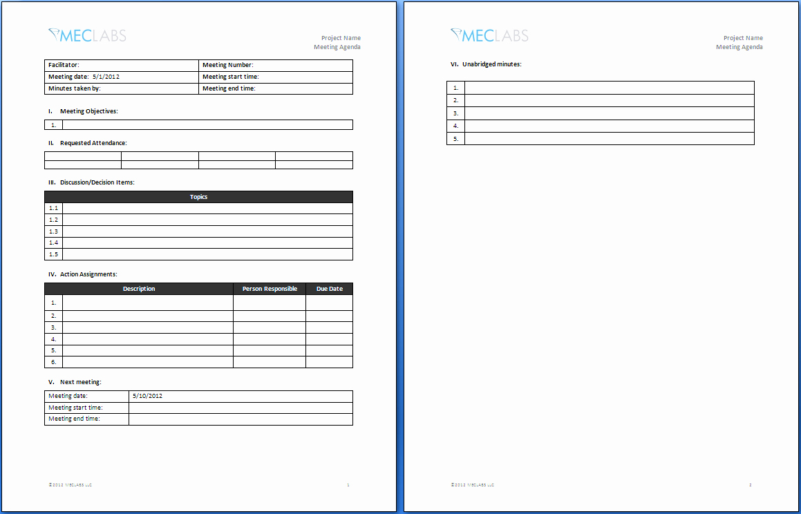 Meeting Brief Template Inspirational Informal Meeting Agenda Template Word Ms Fice How to