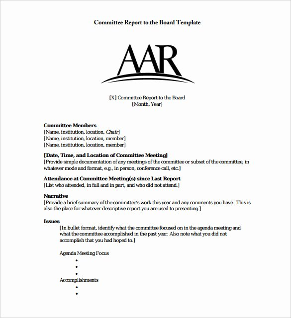 Meeting Brief Template Lovely 26 Board Report Templates Pdf Word Apple Pages