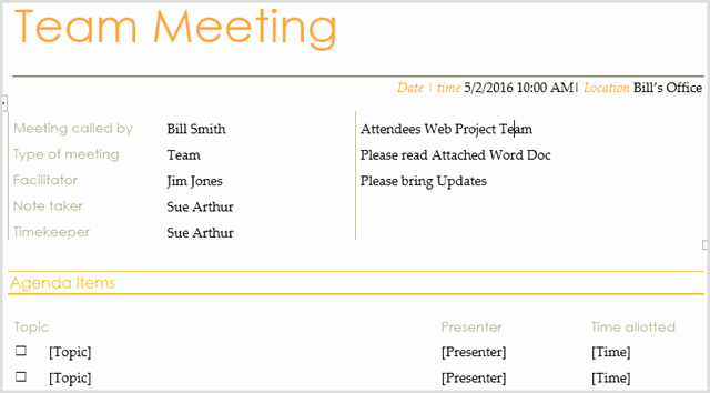 Meeting Brief Template Unique 15 Best Meeting Agenda Templates for Word
