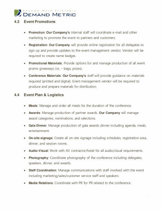 Meeting Rfp Template Awesome event Management Rfp Template