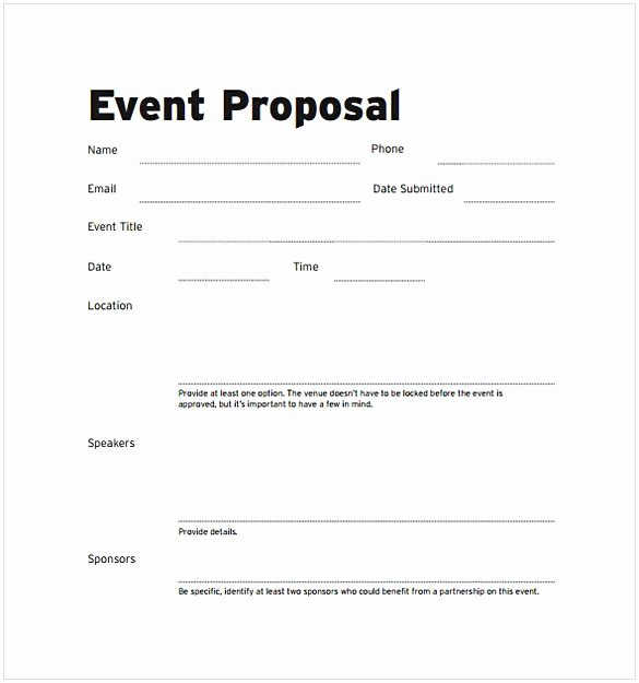 Meeting Rfp Template Awesome event Proposal Template