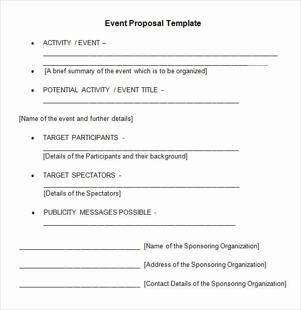 Meeting Rfp Template Beautiful 30 Sample event Proposal Templates Psd Pdf Word