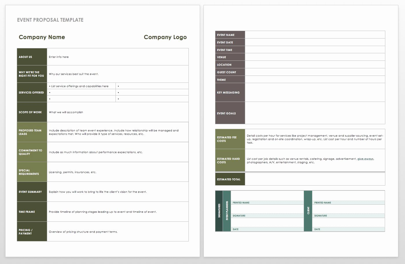 Meeting Rfp Template Inspirational 21 Free event Planning Templates