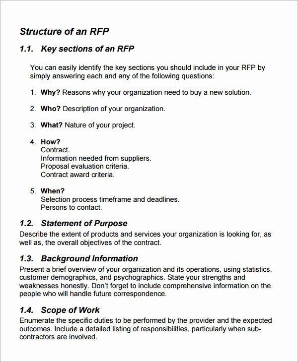 Meeting Rfp Template Luxury 15 Sample Free Request for Proposal Templates