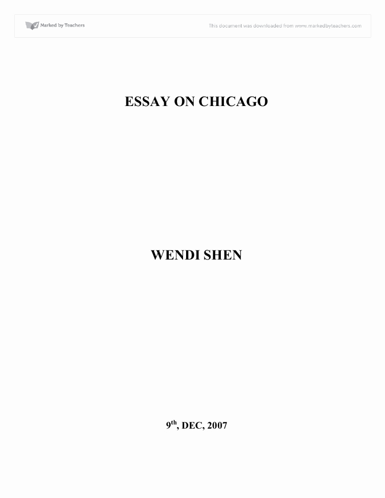 Mega Essays Free Account Fresh Essay On Chicago A Level Media Stu S Marked by