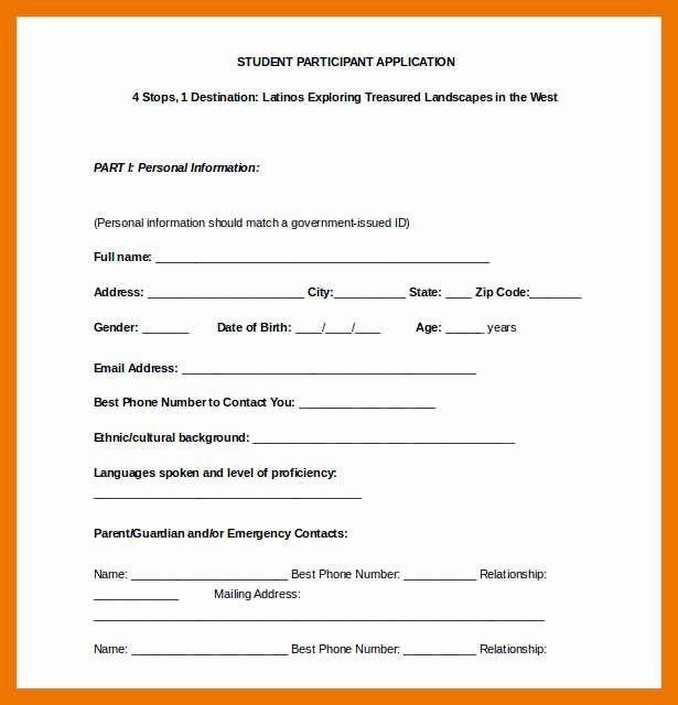 Membership Application Template Free Fresh 3 4 Application Template Doc