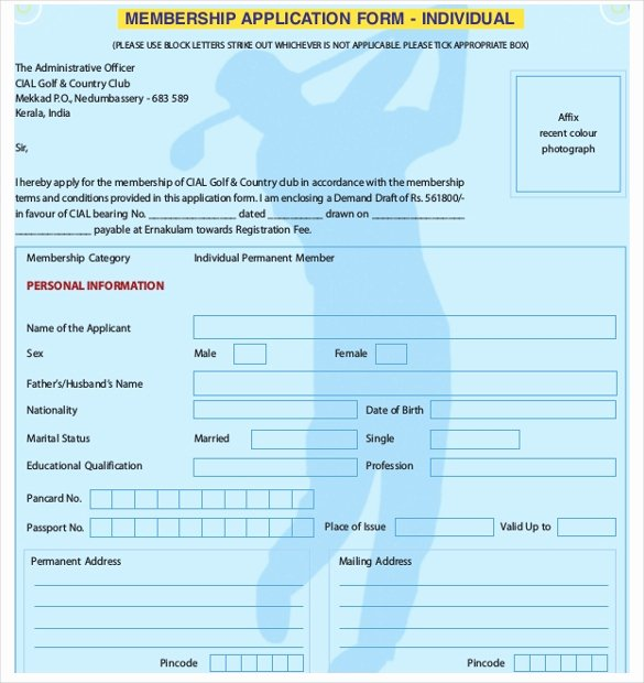 Membership Application Template Free Inspirational 15 Sample Club Application Templates Pdf Doc