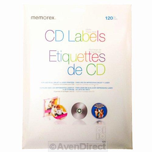 Memorex Cd Labelmaker Template Lovely 120 Memorex Cd Dvd White Matte Paper Inkjet Laser Labels