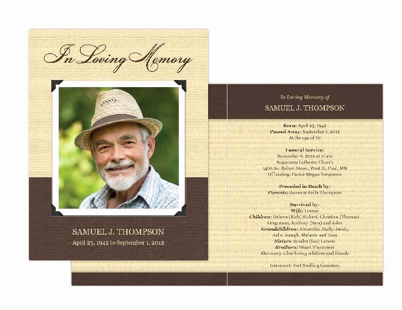 Memorial Card Template Awesome Memorial Cards Memorial Programs and Memorial Bookmarks
