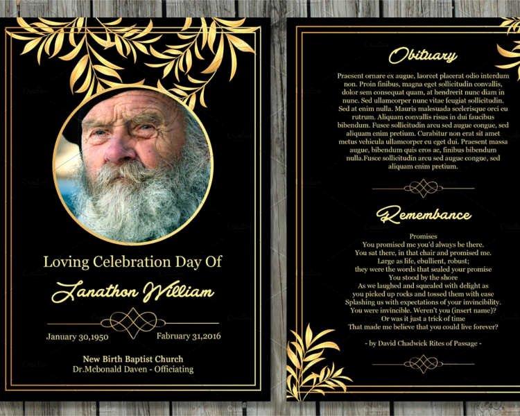 Memorial Card Template Beautiful 12 Printable Funeral Card Templates Free Word Pdf Psd