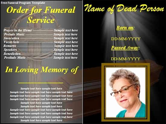 Memorial Card Template Free Download Awesome 33 Sample Funeral Programs Templates