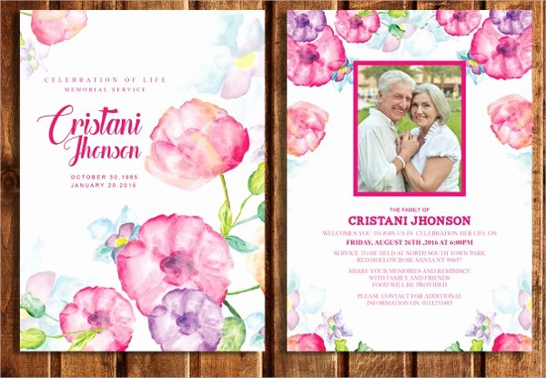Memorial Card Template Free Download Elegant 15 Funeral Card Templates Free Psd Ai Eps format