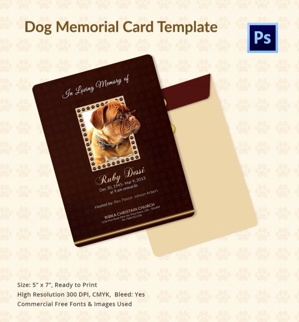 Memorial Card Template Free Download Inspirational 31 Funeral Program Templates – Free Word Pdf Psd