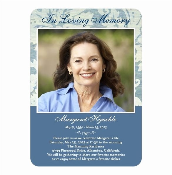 Memorial Card Template Free Download Lovely 16 Obituary Card Templates Free Printable Word Excel