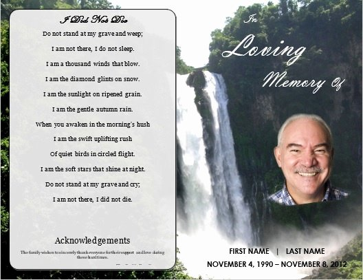 Memorial Card Template Fresh 1000 Images About Printable Funeral Program Templates On