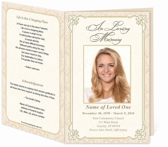 Memorial Card Template Luxury Download Edit Print Ready Made Program