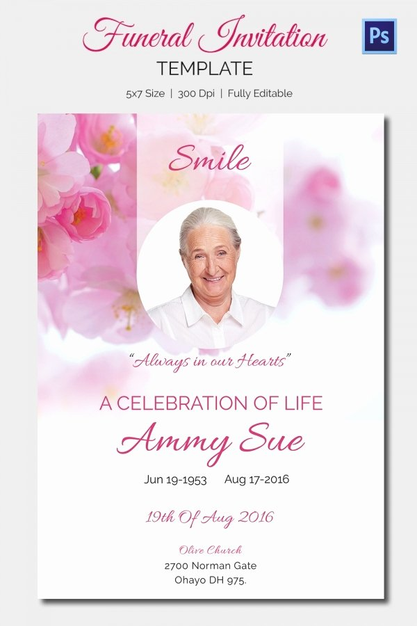Memorial Card Template Microsoft Word Elegant Funeral Invitation Template – 12 Free Psd Vector Eps Ai