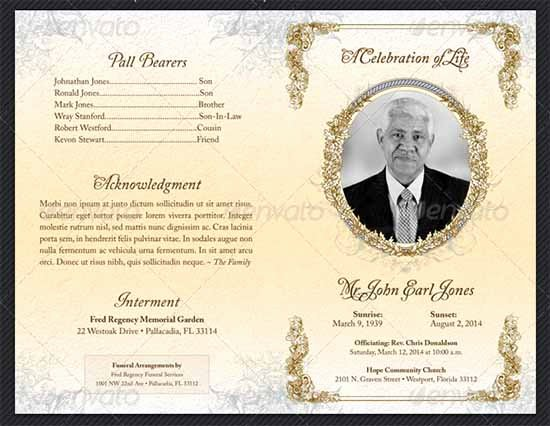 Memorial Card Template Microsoft Word Luxury Funeral Program Template 30 Download Free Documents In