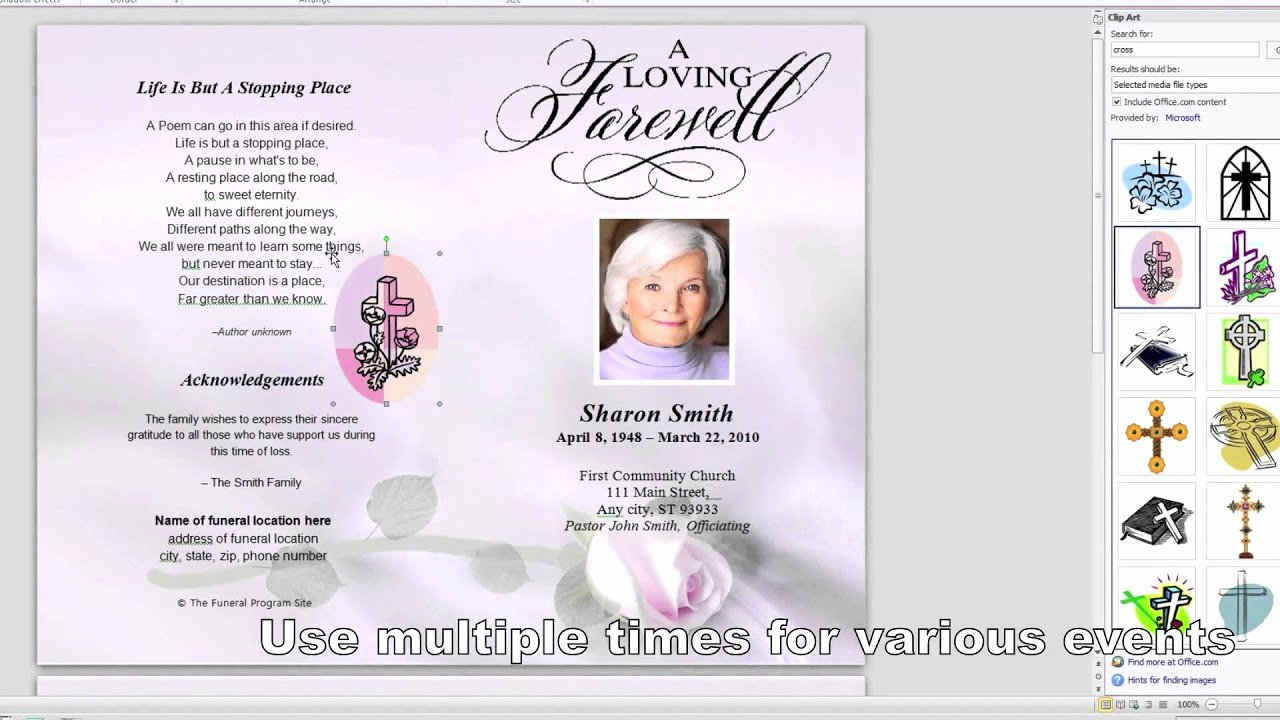 Memorial Card Template Microsoft Word Luxury How to Customize A Funeral Program Template
