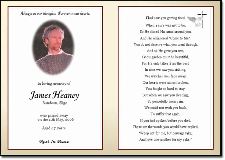 Memorial Card Template Microsoft Word New Best 25 Funeral Prayers Ideas On Pinterest