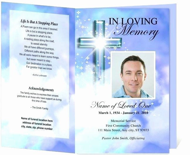 Memorial Card Template Microsoft Word Unique Free Template for Funeral Program Picture – 25 Funeral