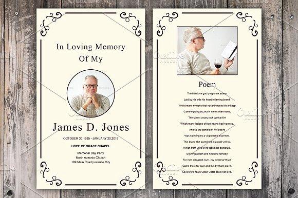 Memorial Card Template New Funeral Prayer Card Template Card Templates Creative