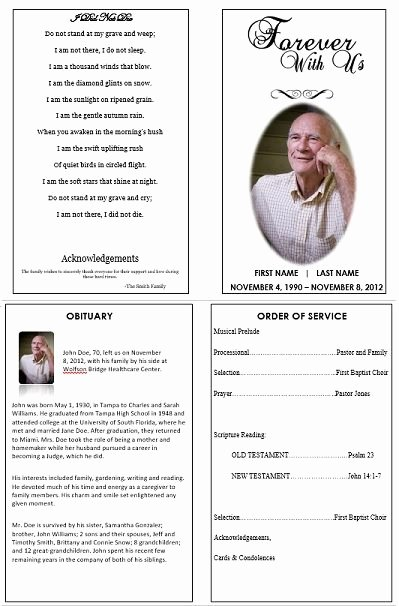Memorial Card Templates Free Download Fresh 1000 Images About Printable Funeral Program Templates On