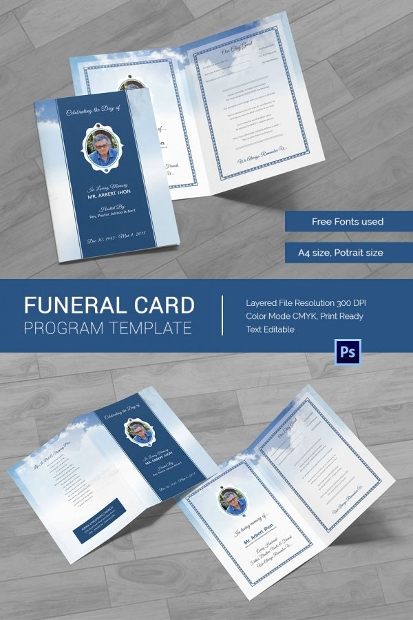 Memorial Card Templates Free Download Inspirational 21 Obituary Card Templates – Free Printable Word Excel