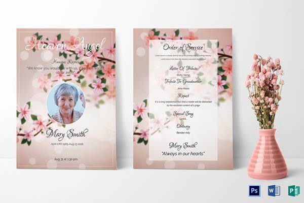Memorial Card Templates Free Download Lovely Our Favorite Actually Free Funeral Program Templates