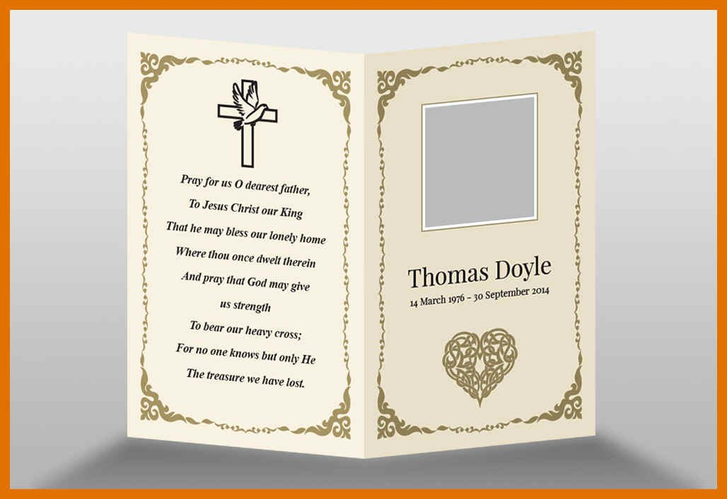 Memorial Card Templates Free Download Luxury 6 7 Funeral Memorial Templates Free