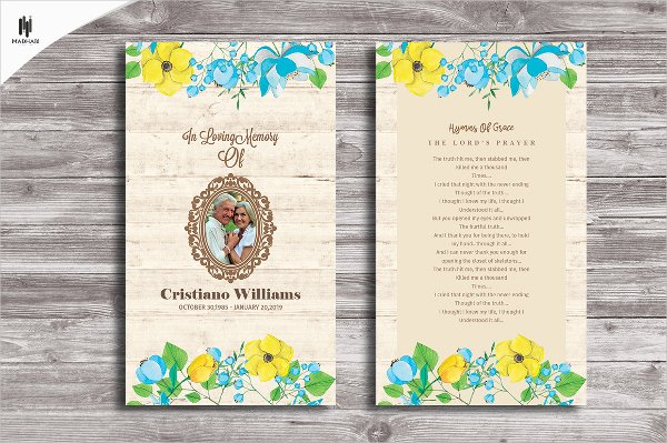 Memorial Card Templates Free Download New Free Printable Funeral Prayer Card Template