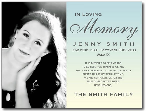 Memorial Cards for Funeral Template Free Beautiful Blank Funeral Prayer Card Template