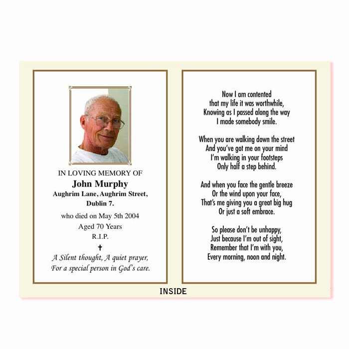 Memorial Cards for Funeral Template Free Elegant In Memoriam Card – Wp2print Demo