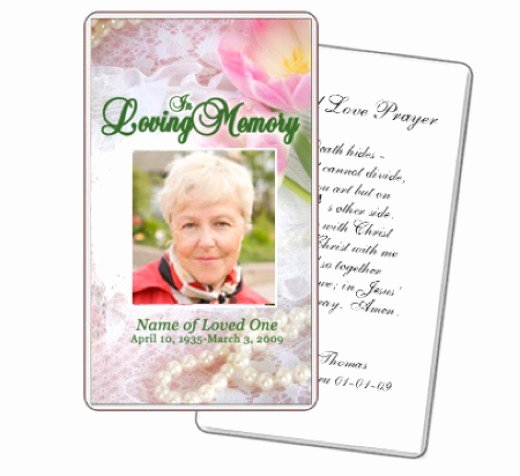 Memorial Cards for Funeral Template Free Lovely What to Write In Funeral Cards Rocketswag