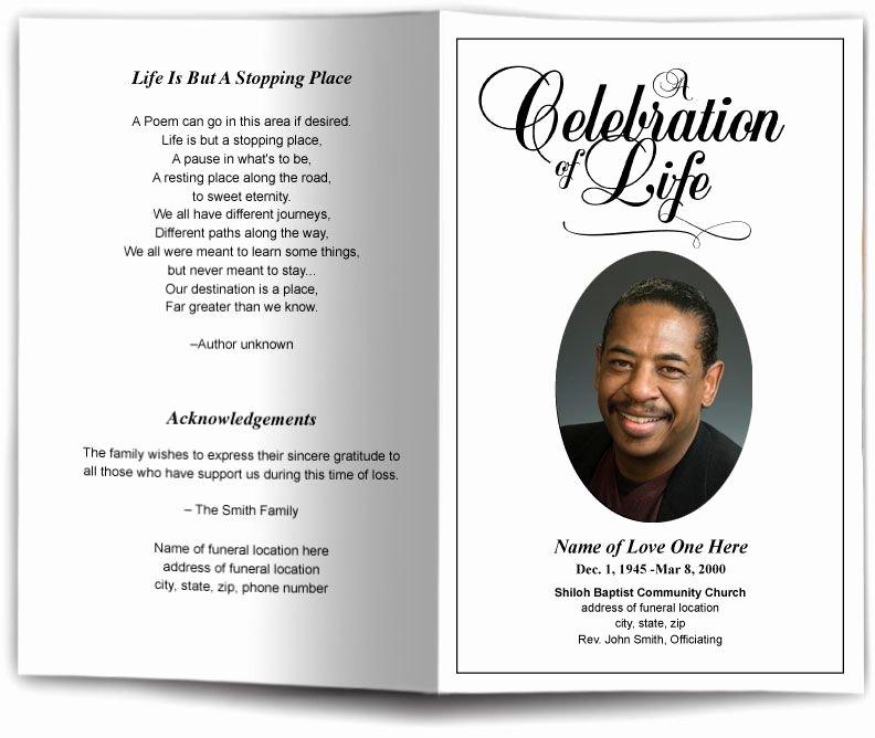 Memorial Cards Template Beautiful Funeral Program Obituary Templates