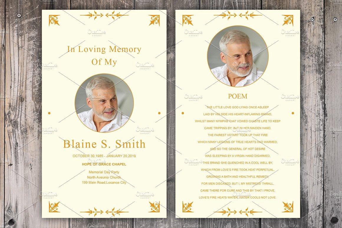 Memorial Cards Template Best Of Funeral Prayer Card Template Card Templates Creative