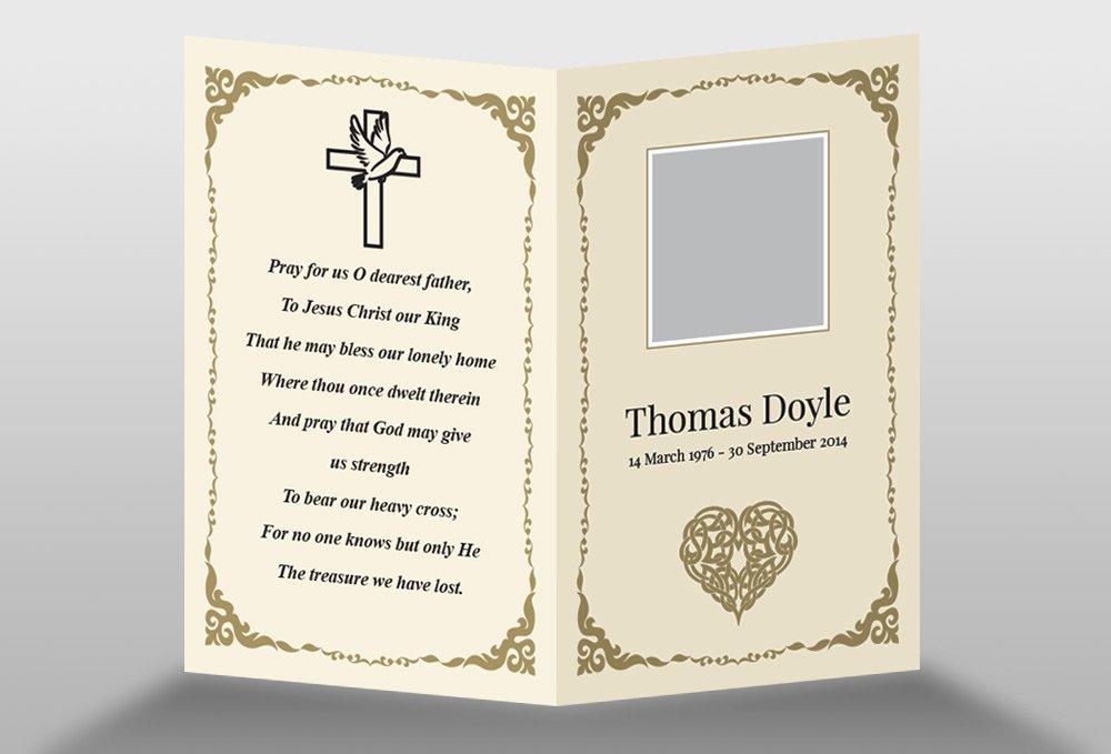 Memorial Cards Template Elegant Free Memorial Card Template In Indesign format Download