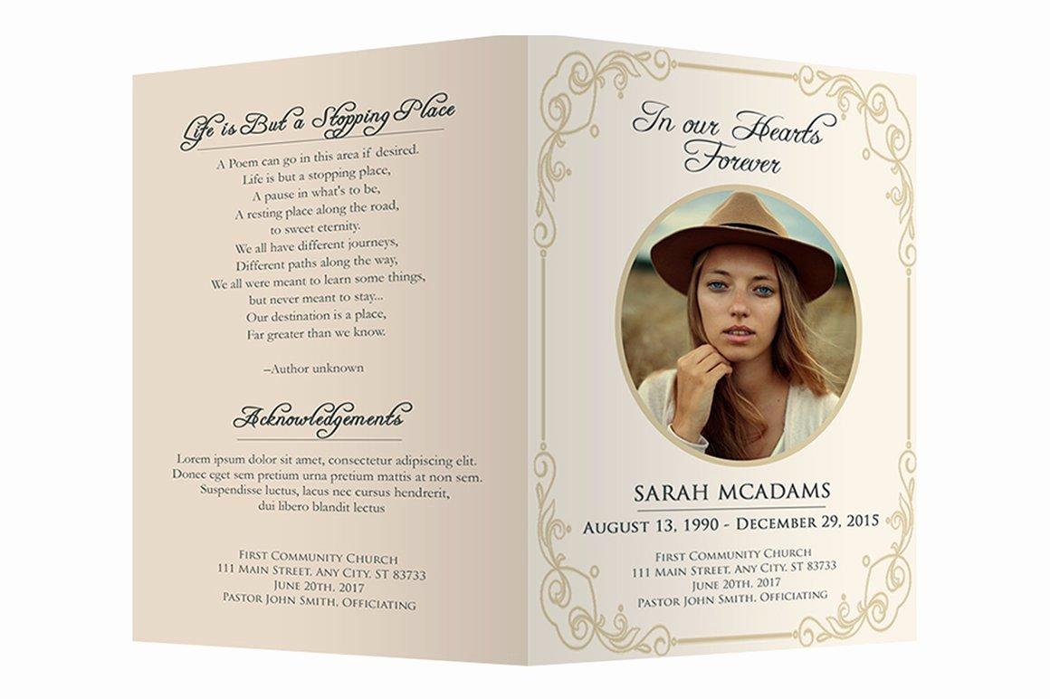 Memorial Cards Template Elegant Funeral Program Template Brochure Templates Creative