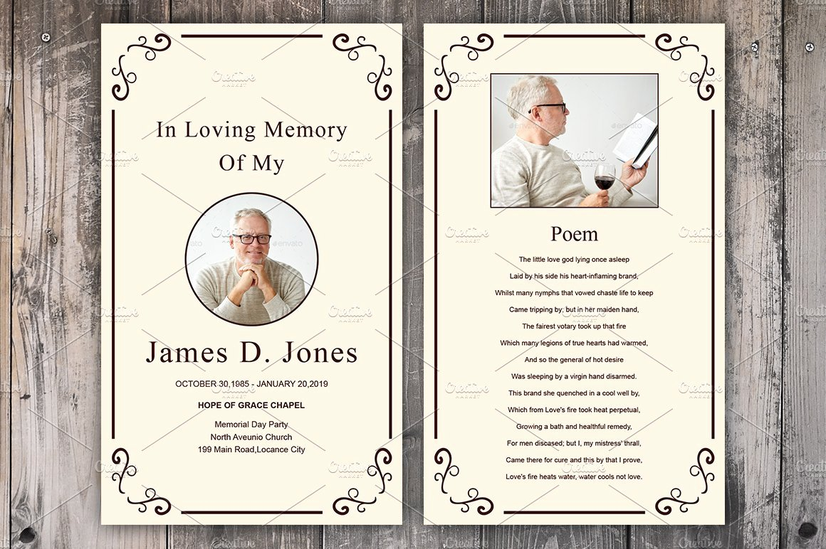 Memorial Cards Template Free Best Of Funeral Prayer Card Template Card Templates Creative